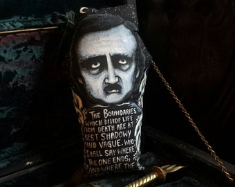 Poe Night Garden Limited Edition Coffin Pillow Print