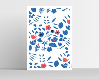 FLOWERS POSTER / A3 Print 11,69x16,54'
