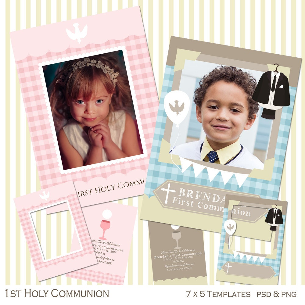 Communion Card, Communion Frames, Communion Template, Digital 7 x 5 ...