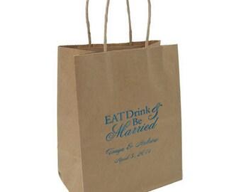 Paper Bags~50 Kraft Personalized Wedding Bags