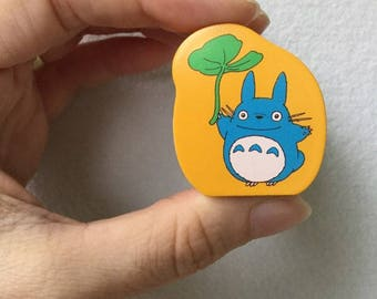Totoro Stamp - Wooden Rubber Stamp - Leaf