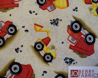 Digging Equipment from the Dig It Collection by Victoria Hutto for Quilting Treasures.  Quilt or Craft Fabric, Fabric by the Yard.