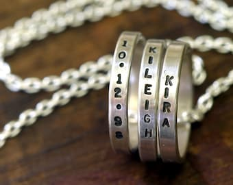 Personalized mommy necklace (E0236)
