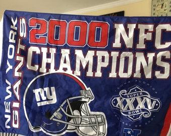 NY Giants 2000 NFC championship banner