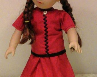Red 2-piece dress