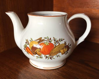 Vintage Vegetable Detailed Tea Pot