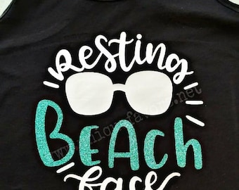 Resting Beach Face! Beach life inspired tank top. Other colors available! T-shirts, V-necks, Sweatshirts and more!