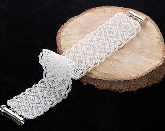 Handmade bracelet Beading bracelet Almost lacy bracelet