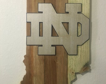 Notre Dame, Fighting Irish, Wood Art, Wall Decor