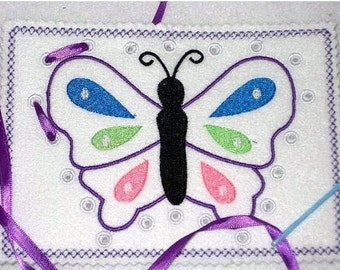 BUTTERFLY SEWING Lace Up Card #3835