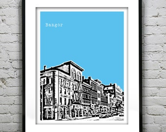 Bangor Maine Poster Art Print