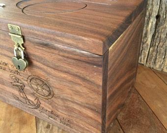Keepsake Box, Personalized Memory Box, Rustic Wooden Keepsake Box, Engraved Gift, Jewelry Box, Photo Box, Newlywed Gift,Baby Memory Box