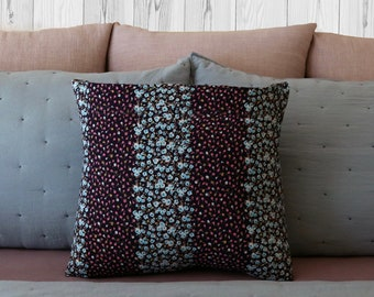 Flower stripes pillow case