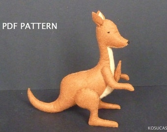PDF tutorial to make a felt kangaroo.