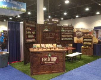 Trade Show Rustic custom portable wall - display for shop or booth -
