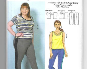 B6498 Butterick Women's Top and Pants Sewing Pattern Sizes 18W-44W