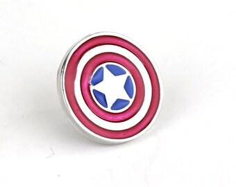 Captain America Shield Lapel Pin