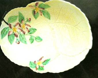SALE marked down from 125 now 75  ... CARLTON Ware Yellow Apple Blossom FLORAL dish  ... vintage sitting pretty 30s glassware .