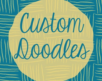 CUSTOM Doodles | Doodle Notes | Hand Drawn Clip Art