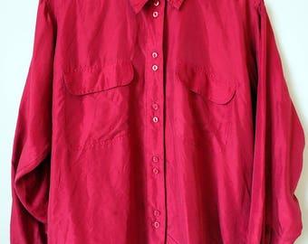 1980's JEWEL toned Silk Blouse