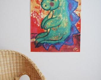 A2 poster children's Green Dragon