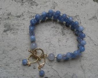 Navy stone bracelet