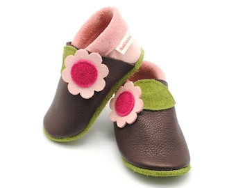 baby booties, baby shoes, baby slippers, baby shoes leather, leather slippers, slippers, colourful child footwear, vegetable tanned leather