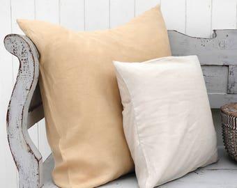 Linen EURO SHAM   Euro Sham   Linen Pillow Cover   Linen Bedding   Linen Pillowcase   Washed Linen   Farmhouse Pillow Cover