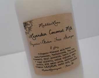 FREE SHIPPING/ORGANIC/Lavender Coconut Milk Shampoo-made with organic ingredients-8oz.