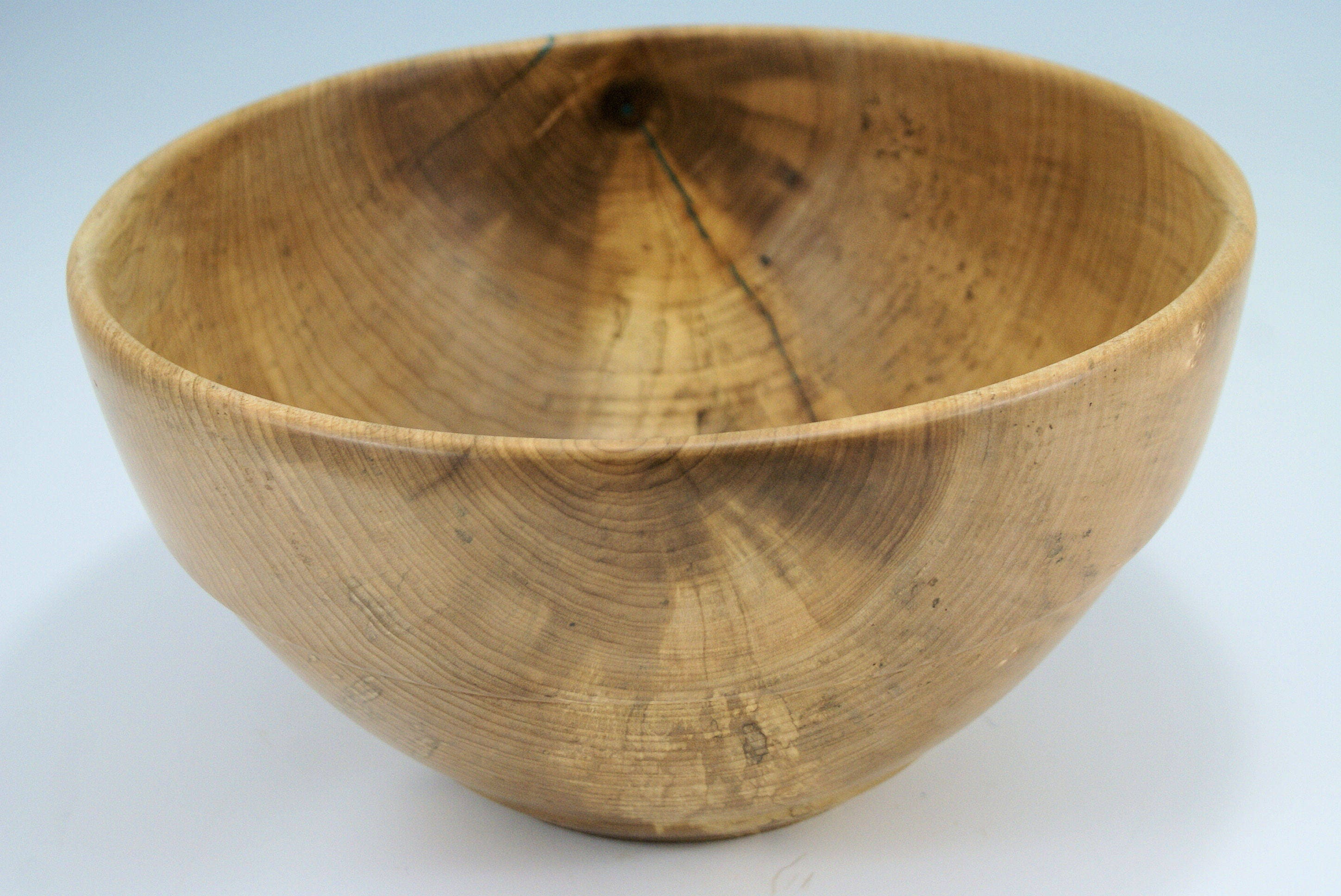 large wooden salad bowl. Large Wooden Salad Bowl, Wood Serving Bowl And Center Piece Made From Maple, B2978 E