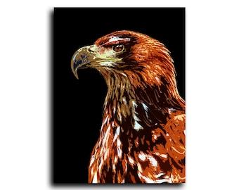 Eagle Print, Hawk Print, Bird of Prey, Animal Wall Art, Printable Art, Instant Download, Modern Minimal, Bird Prints, Modern Bird