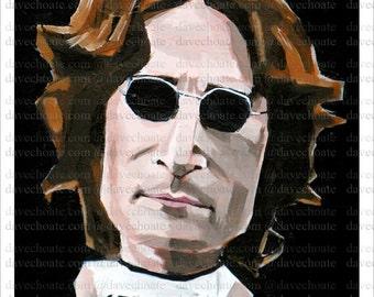 John Lennon Art Photo Print