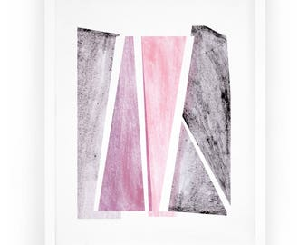 Home Décor, Abstract Décor, Art Print, Framed Print, White Frame, Wall Decor, 8x10, 16x20, Wall Hanging, Decoration, Living. Overlay Print