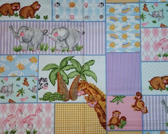 Zoo Animals Patch Blanket