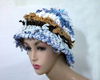 Crazy boho hat crochet hats for women funky winter hat rag colorful beanie statement hat cool crazy hat cloche bucket shabby chic bohemian
