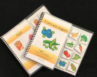 Fruits and Veggies and Food Sentance Starter Adapted Books (I Eat)
