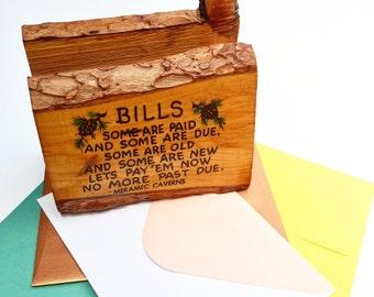 Vintage Meramec Caverns Bill / Mail Holder