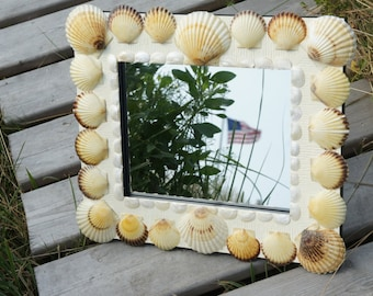 Scallop & Clam Shell Mirror, by JP Harvey, a Nantucket Artist