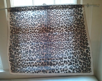 Altered Animal Print Scarf into Window Curtain