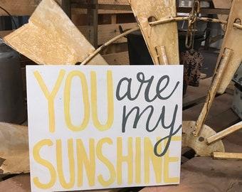You Are My Sunshine Sign - Nursery Decor - Sunshine Wood Sign - Baby Shower Gift - Kids Room - Farmhouse Decor - You Make Me Happy