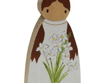 Saint Maria Goretti Pocket Saint / Wooden Catholic Saint Toy