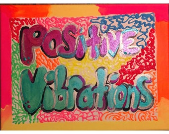 Neon vibrations painting