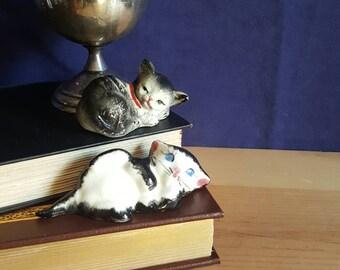 Vintage ceramic cats- set of 2