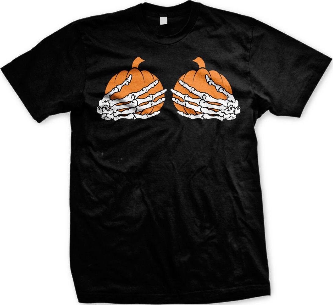 Pumpkin Boobs Men's T-shirt Halloween Costume Shirt