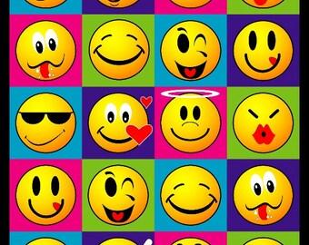Smiley Faces Beach Towel 30x60