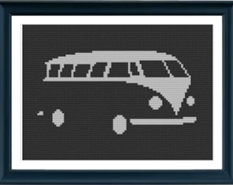 Cross Stitch Pattern - VW Kombi PDF