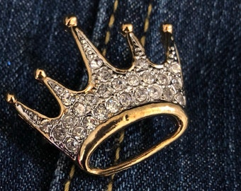 Queen with a Crown Rhinestone Brooch - Limited Quantities Available