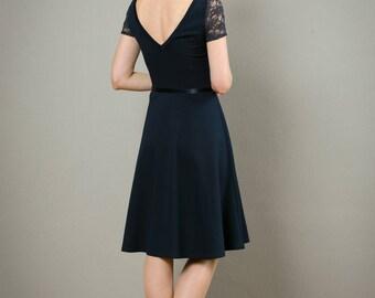 "Kleid ""Tiffany"" mit Tellerrock , in dunkelblau"