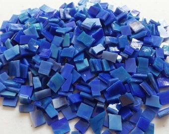 MOSAIC Glass Tiles * 1/2 lb * Blue Opal