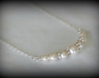 Pearl Bridesmaid Jewelry - Bridesmaid Gift - Wedding Jewelry - Color Choice
